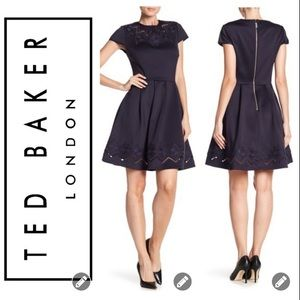 NWT! Ted Baker Cheskka mesh lace skater dress 3007
